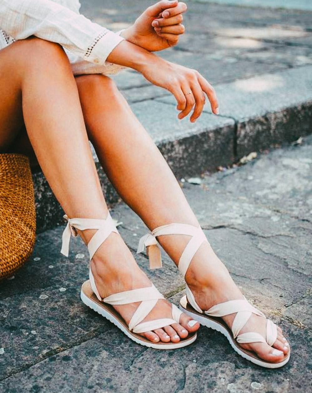 lint sandales a rubans lint sandalen ribbon sandals 3