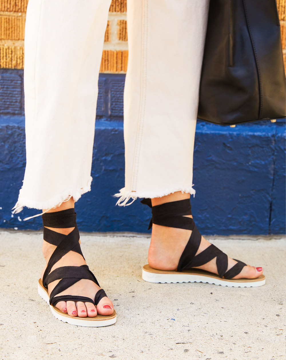 lint sandales a rubans lint sandalen ribbon sandals 4