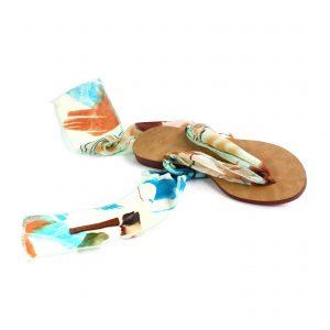 raramuri sandals Pastel tulum ribbon sandal