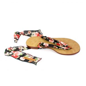 raramuri sandals black flowered tulum ribbon sandal