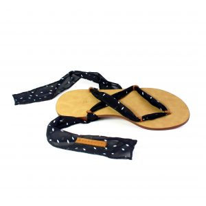 raramuri sandals white doted cancun ribbon sandal