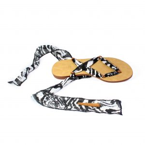 raramuri sandals zebra skin cancun ribbon sandal